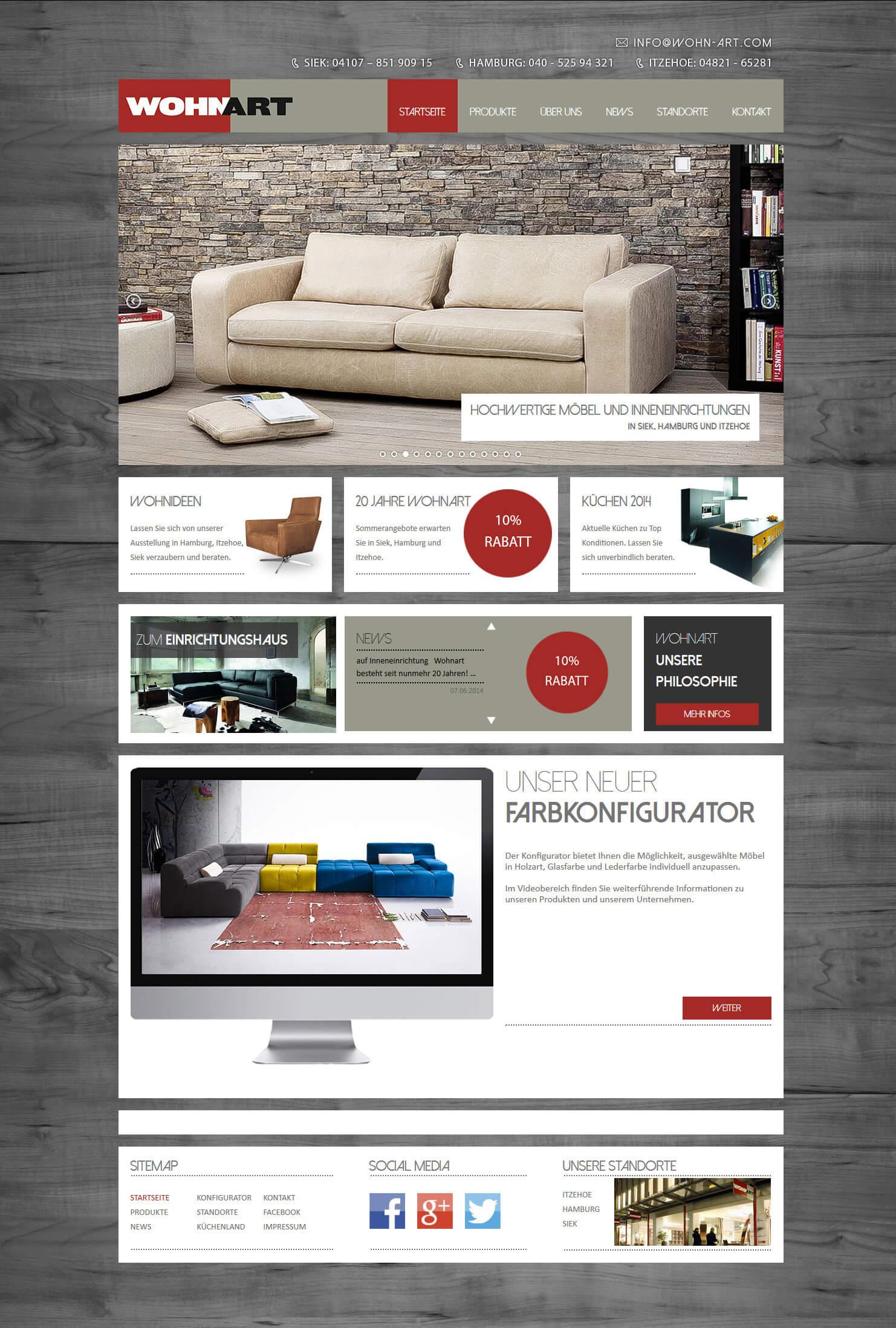 Wp Webdesign Projekt Realisiert Fur Wohnart In Siek