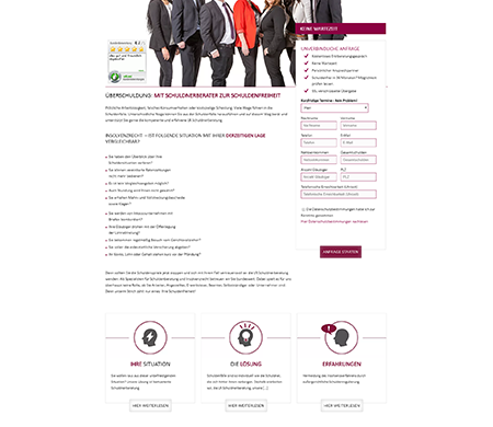 Homepage für Rechtsanwalt