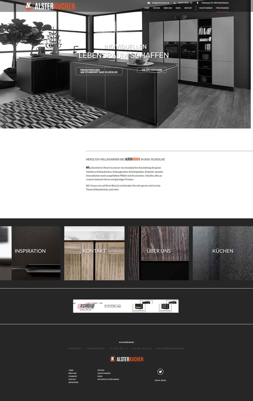 Kuchenstudio Webdesign Alster Kuchen Bad Oldesloe