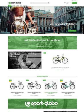 Fahrrad Shop Design mit Shopware