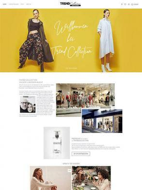 Shopware 6 Onlineshop für die Mode Boutique: Trend Collection