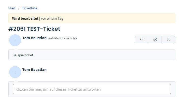 Web Labels Ticketsystem